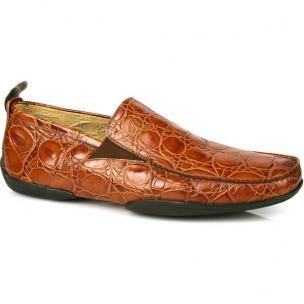 Michael Toschi Onda Driving Shoes Cognac Croco Image