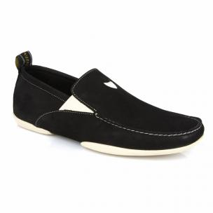 Michael Toschi Onda S Driving Loafers Black Suede Image