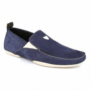 Michael Toschi Onda S Driving Loafers Navy Suede Image