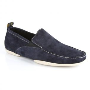 Michael Toschi Onda SE Suede Driving Shoes Navy / Cream Sole Image