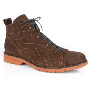 Michael Toschi Rasco Suede Boots Chocolate Image