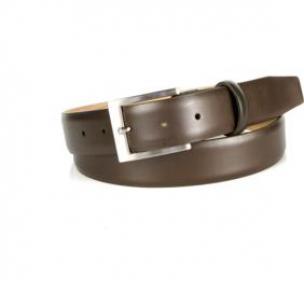 Michael Toschi Balboa Calfskin Belt Chocolate Image