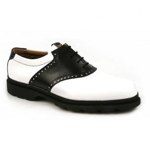 Michael Toschi G1 Saddle Golf Shoes Black/White Image