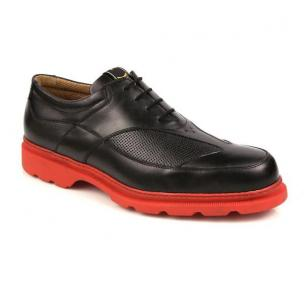 Michael Toschi G3 Golf Shoes Black/Red Sole Image