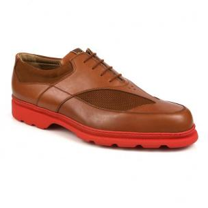 Michael Toschi G3 Golf Shoes Tobacco/Red Sole Image
