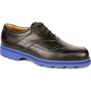 Michael Toschi G4 Golf Shoes Black / Blue Sole Image