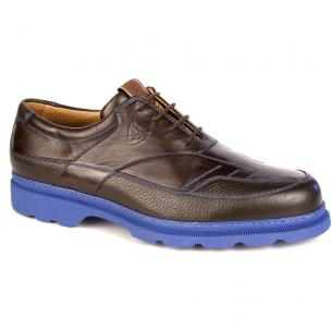 Michael Toschi G4 Golf Shoes Chocolate / Blue Sole Image