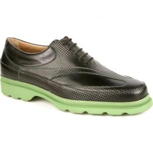 Michael Toschi GX Golf Shoes Black / Green Sole Image