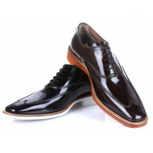 Michael Toschi Luciano SE Patent Leather Wing Tips Tmoro Image