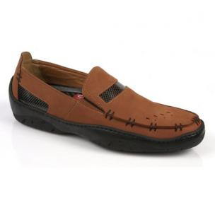 Michael Toschi Mach Driving Shoes Cinnamon Nubuck Image