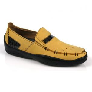 Michael Toschi Mach Driving Shoes Yellow Nubuck Image