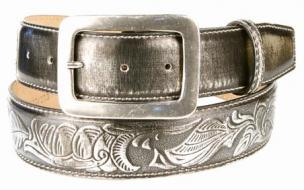 Michael Toschi 'Metal' Belt Black Chrome Image