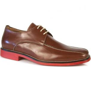 Michael Toschi Mirco Bicycle Toe Shoes Brown / Red Sole Image