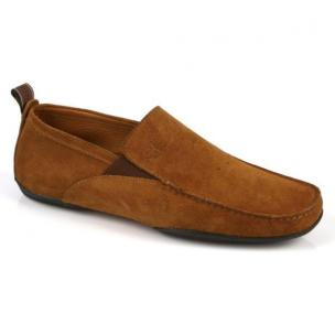 Michael Toschi Onda Driving Shoes Cinnamon Suede Image