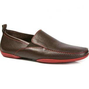 Michael Toschi Onda SE Driving Shoes Chocolate/Red Sole Image