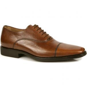 Michael Toschi Pietro Cap Toe Shoes Brown Image