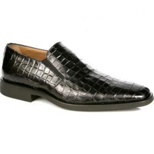 Michael Toschi Rocco Crocodile Print Loafers Black Image