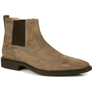 Michael Toschi Spur Double Side Gore Suede Boots Taupe Image