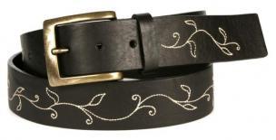 Michael Toschi Vine Calfskin Belt Black Image