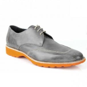 Michael Toschi SL2 Lace Up Shoes Gray / Orange Sole Image
