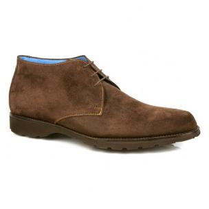 Michael Toschi SL800 Suede Chukka Boots Chocolate Image