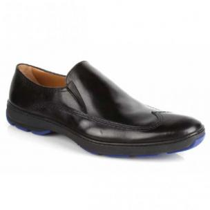 Michael Toschi SUV2 Wingtip Loafers Black / Blue Sole Image
