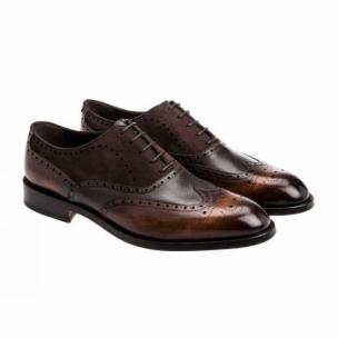 Moreschi 041776D Calfskin & Suede Oxfords Brown Image
