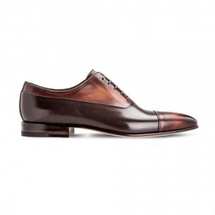 Moreschi 042350B Calfskin Oxford Shoes Dark Brown Image