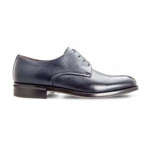 Moreschi 042362A Deerskin Derby Shoes Dark Blue (SPECIAL ORDER) Image