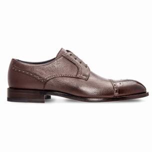 Moreschi 042376A Deerskin Shoes Dark Tan (SPECIAL ORDER) Image