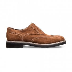 Moreschi 042382BMM Suede Leather Oxfords Brown (SPECIAL ORDER) Image