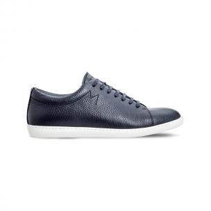 Moreschi 042540E Hammered Leather sneakers Blue (SPECIAL ORDER) Image
