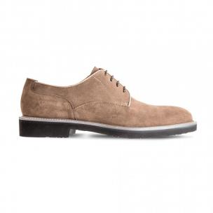 Moreschi 42379TP Suede Leather Derby Shoes Beige (SPECIAL ORDER) Image