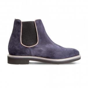 Moreschi 42381 Suede Leather Chelsea boots Blue (SPECIAL ORDER) Image