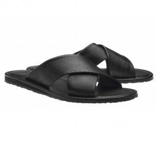 Moreschi Barbuda Calfskin Sandals Black Image