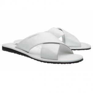 Moreschi Barbuda Calfskin Sandals White Image