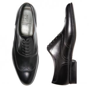 Moreschi Belfast Calfskin Wingtip Oxfords Black Image