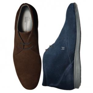 Moreschi Suede Casual Boots Navy Image