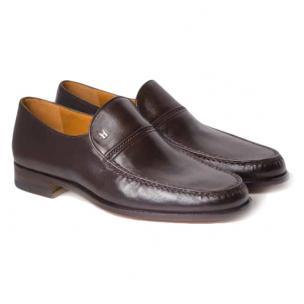 Moreschi Bonn Lambskin Shoes Dark Brown Image