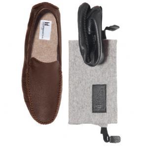 Moreschi Cortina Deerskin Slippers Image