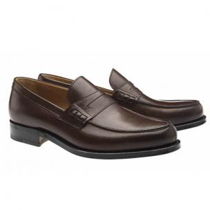 Moreschi Coventry Goodyear Welted Penny Loafers Brown Image