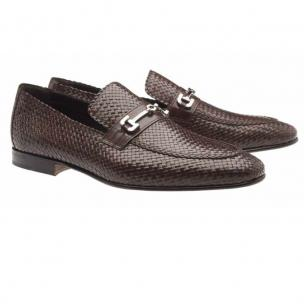 Moreschi Cuba Woven Loafers Brown Image