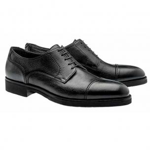 Moreschi Detroit Deerskin Cap Toe Shoes Black Image
