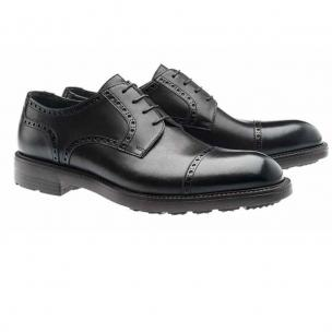 Moreschi Goteborg Cap Toe Shoes Black Image