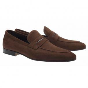 Moreschi Haiti Suede Penny Loafers Brown Image