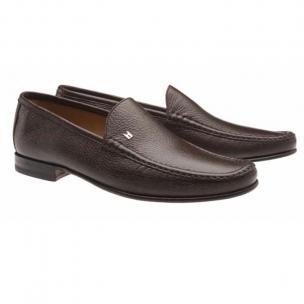 Moreschi Hannover Deerskin Loafers Brown Image