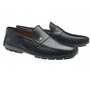 Moreschi Havana Lambskin Driving Loafers Black Image