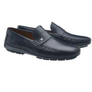 Moreschi Soft Driving Loafers Navy Image