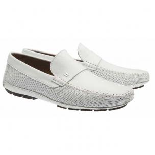 Moreschi Havana Lambskin Driving Loafers White Image