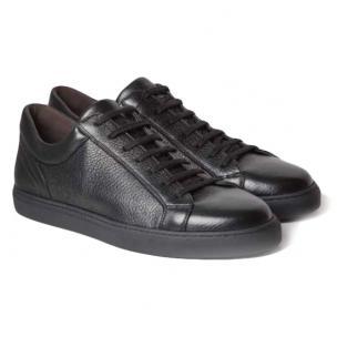 Moreschi Ibiza Deerskin Sneakers Black Image